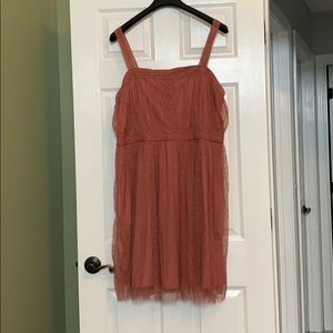 Dress! Rose colored dress with beautiful lace!